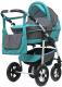 Детская универсальная коляска Bart-plast Fenix Pcof 3 в 1 (03, серый/бирюзовый) -