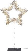 Светодиодная фигура 3D Gasper Звезда на подставке / 8519501-39 (золото) -