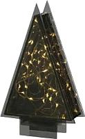 Статуэтка Gasper Елочка стеклянная с гирляндой / 4618500-00 (черный) -