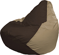 Бескаркасное кресло Flagman Груша Медиум Г1.1-330 (коричневый/тёмно-бежевый) -