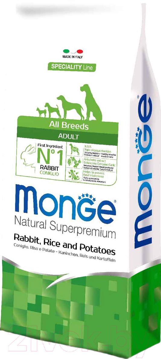 Купить Корм для собак Monge, Speciality Adult All Breeds Rabbit, Rice&Potato (2.5кг), Италия