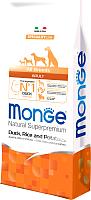 Корм для собак Monge Speciality Adult All Breeds Duck,Rice&Potato (15кг) -