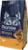 Корм для собак Monge BWild Adult All Breeds Ostrich (2кг) -