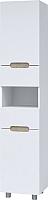 Шкаф-пенал для ванной Bliss Ниагара 2Д2Я / 0642.3 (белый глянец/камень серый) -