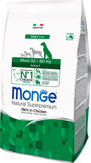 Купить Корм для собак Monge, Daily Maxi Adult Rich in Chicken (15кг), Италия
