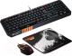 Клавиатура+мышь Canyon CND-SGS02-RU (с ковриком) -