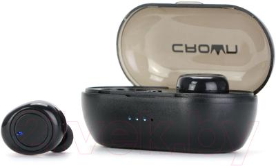 Наушники-гарнитура Crown CMTWS-5001 (черный)