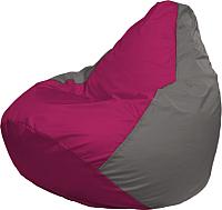 Бескаркасное кресло Flagman Груша Мини Г0.1-374 (фуксия/серый) -