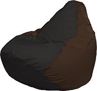 Бескаркасное кресло Flagman Груша Мини Г0.1-398 (чёрный/коричневый) -