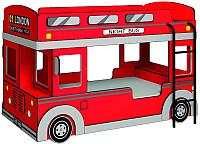 Двухъярусная кровать Глазов Автобус 1 (красный) -