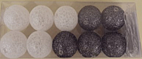 Тайские фонарики Подари 61001 (3/белый перламутр/черный с серебром) -