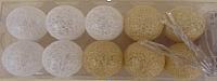 Тайские фонарики Подари 61001 (5/золото/белый перламутр) -