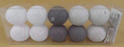 Тайские фонарики Подари 61001 (10/белый /серый/серебристый)