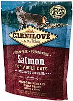 Корм для кошек Carnilove Salmon for Adult Cats Sensitive & Long Hair / 512294 (400г) -