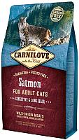 Корм для кошек Carnilove Salmon for Adult Cats Sensitive & Long Hair / 512287 (2кг) -