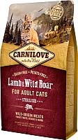 Корм для кошек Carnilove Lamb & Wild Boar for Adult Cats Sterilised / 512300 (6кг) -
