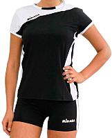 Форма волейбольная Mikasa MT375-046-3XL (черный/белый) -