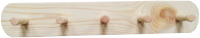 Вешалка для одежды ВудГрупп Лосяш-5 (495x85x72) -