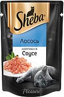 Корм для кошек Sheba Pleasure Ломтики из лосося в соусе (85г) -