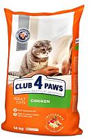 Корм для кошек Club 4 Paws Premium с курицей (14кг) -