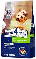Корм для собак Club 4 Paws Premium для взрослых собак малых пород (2кг) -