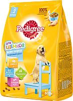 Корм для собак Pedigree Для щенков всех пород с 2 месяцев с курицей (600г) -