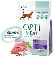 Корм для кошек Optimeal Hairball Control с уткой (10кг) -