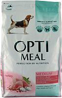 Корм для собак Optimeal Medium Adult с индейкой (12кг) -