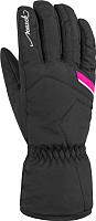 Перчатки горнолыжные Reusch Marisa / 4831150 748 (р-р 6.5, Black/White/Pink Glo) -