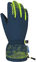 Перчатки горнолыжные Reusch Xaver R-Tex Junior Dress / 4761209 468 (р-р 4, Blue/Neon yellow) -
