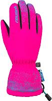 Перчатки горнолыжные Reusch Xaver R-Tex XT Junior / 4761209 303 (р-р 4, Pink Glo/Bachelor Button) -