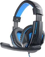 Наушники-гарнитура Gembird MHS-G215 (черный/синий) -