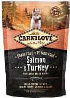 Корм для собак Carnilove Salmon & Turkey for Large Breed Puppy / 150823 (1.5кг) -