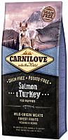 Корм для собак Carnilove Salmon & Turkey for puppies / 150815 (12кг) -
