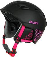 Шлем горнолыжный Blizzard Viva Demon Ski Helmet / 163360 (56-59см, black matt/magenta flowers) -