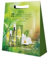 Набор косметики для лица Белита-М EGCG Korean Green Tea Catechin гидроф. гель+сыворотка+крем д/рук (120г+30г+60г) -