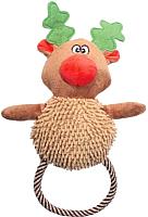 Игрушка для животных Triol Рождественский олень с веревкой / 12141146 -
