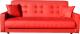 Диван ЛМФ Аккорд 140 с ПБ (красный) -