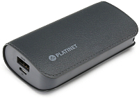 Портативное зарядное устройство Platinet 5200mAh / PMPB52LG (серый) -