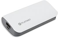 Портативное зарядное устройство Platinet 5200mAh / PMPB52LW (белый) -