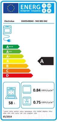Плита газовая Electrolux EKK954904X