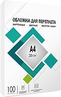 Обложки для переплета Гелеос CCA4W А4, под кожу (белый) -