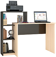 Компьютерный стол Тэкс Квартет-2 (венге/дуб молочный) -