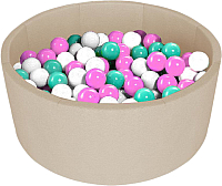 Сухой бассейн Kampfer Pretty Bubble (200 шаров, бежевый) -