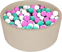 Сухой бассейн Kampfer Pretty Bubble (300 шаров, бежевый) -