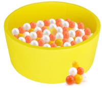 Сухой бассейн Kampfer Pretty Bubble (200 шаров, желтый) -