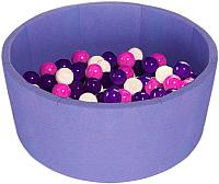 Сухой бассейн Midzumi Baby Beach (100 шаров, сиреневый) -