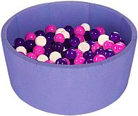 Сухой бассейн Midzumi Baby Beach (200 шаров, сиреневый) -