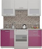 Готовая кухня ВерсоМебель ЭкоЛайт-5 1.6 (белый/лиловый) -