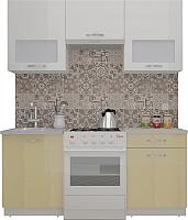 Готовая кухня ВерсоМебель ЭкоЛайт-5 1.6 (белый/персик) -